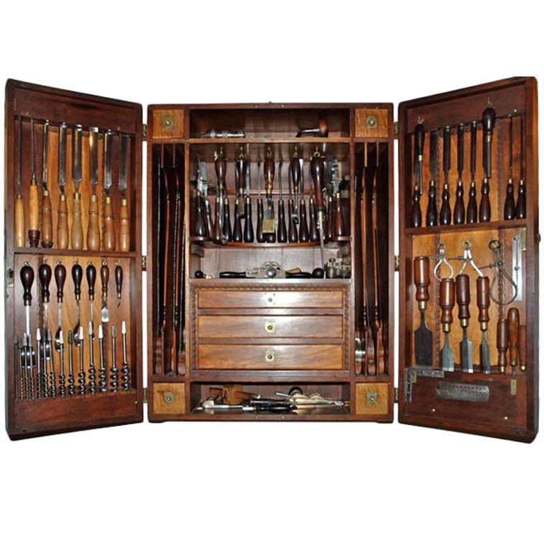 Carpenters tool cabinet at 1stdibs - Wood cabinet design software ...