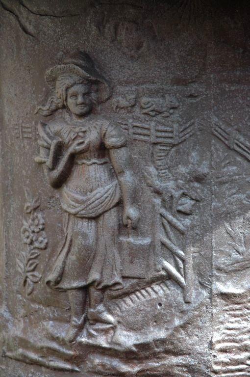 European Massive Cast Iron Urns For Sale