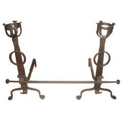 Hand Forged 19th Century Andirons