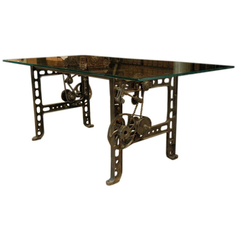 Industrial Gear Table At 1stdibs