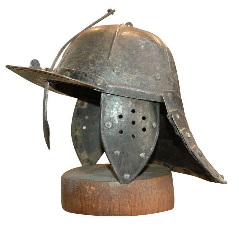 English Civil War Parliamentary Helmet. at 1stdibs
