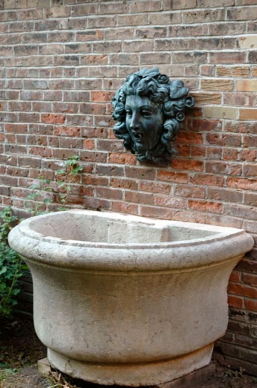 French 18th Century Stone Basin For Sale