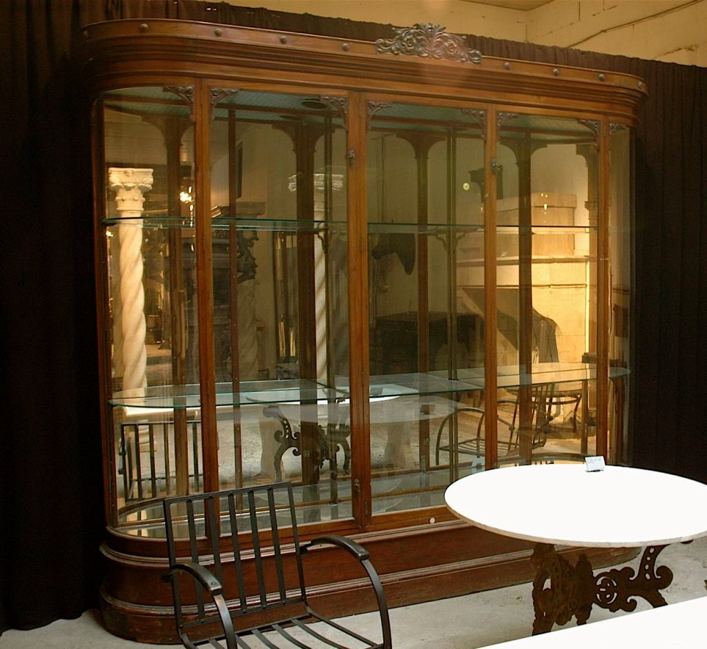 #A77A24 Large Ornate Mahogany Display Case For Sale At 1stdibs with 1024x940 px of Recommended Mahogany Display Cabinets With Glass Doors 9401024 save image @ avoidforclosure.info