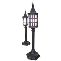 Pair of Early 20th Century Pier Lamps