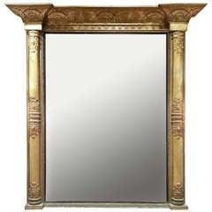 Large Overmantel Mirror