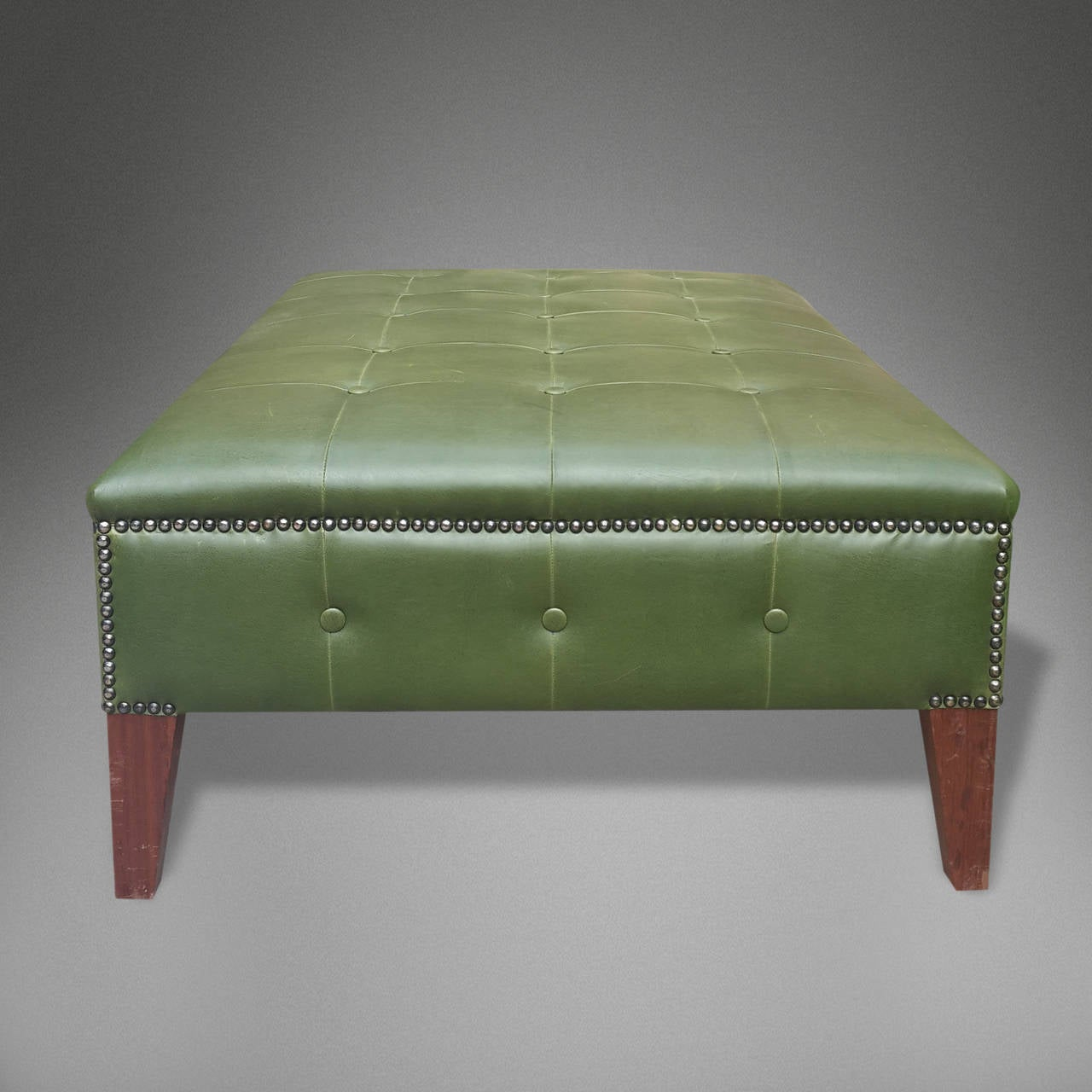 moroccan leather ottoman for sale at 1stdibs. Black Bedroom Furniture Sets. Home Design Ideas