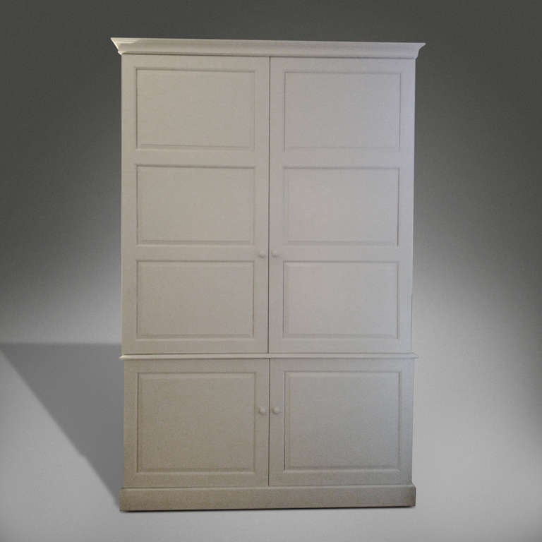 White Kitchen Cabinets For Sale: Large White Painted Pine Kitchen Cabinet For Sale At 1stdibs