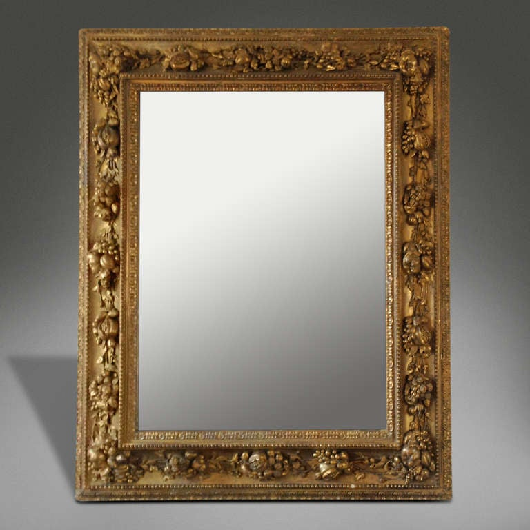 a large english baroque wall mirror c 1840 at 1stdibs