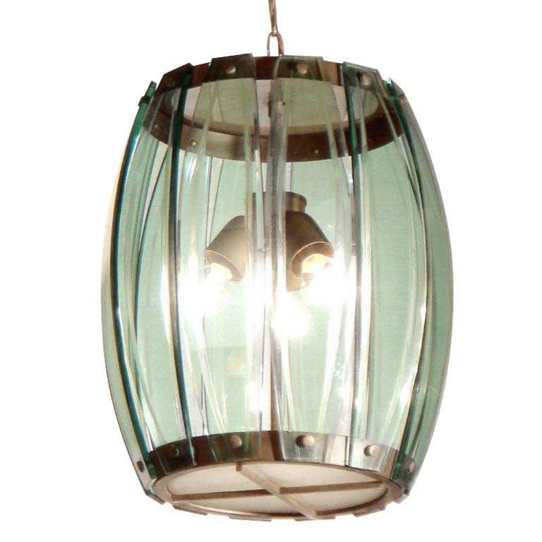 A Glass Hanging Lamp For Sale At 1stdibs