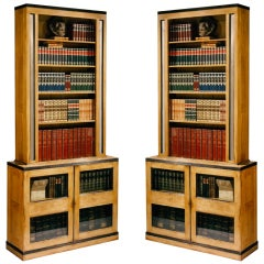TWO Pairs of Bookcases After Sir John Soane