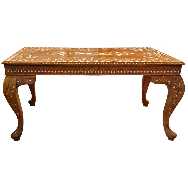 Inlaid Ivory Coffee Table At 1stdibs