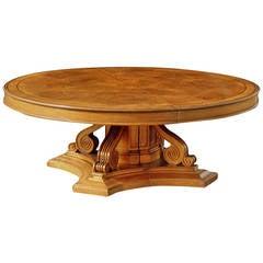 Oak Extending Circular Dining Table