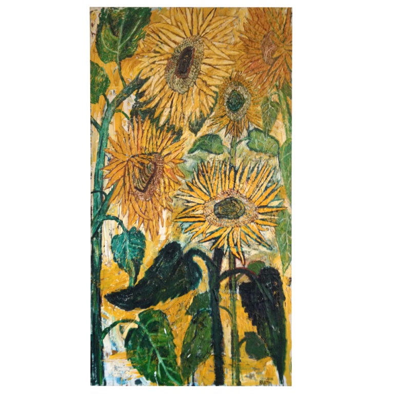 Kitchen Sink Realism Art: Sunflower Paintings By John Bratby For Sale At 1stdibs