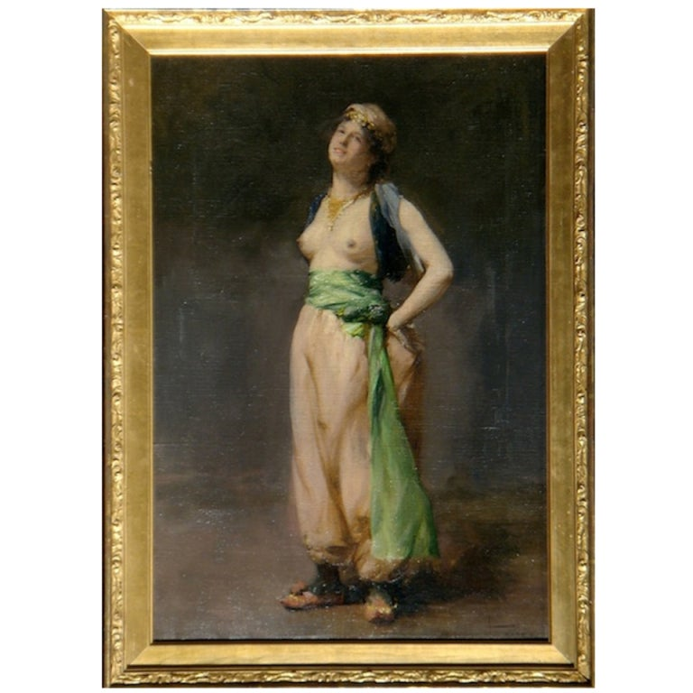 Oil on Canvas of ''An Eastern Dancer''