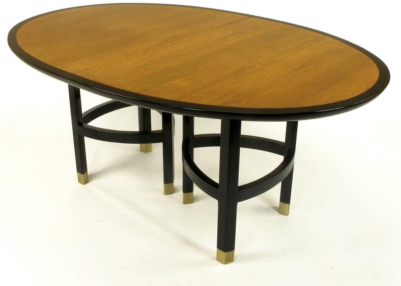 Michael taylor cyprus tree trunk dining table at 1stdibs - Baker Walnut And Ebonized Mahogany Dining Table 2