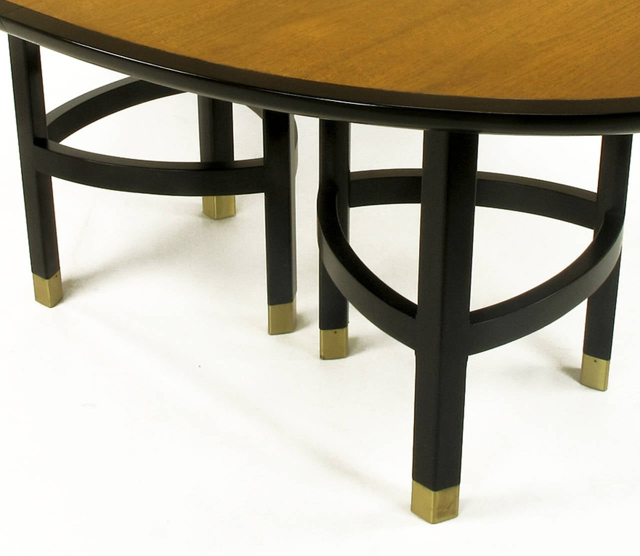 baker walnut and ebonized mahogany dining table at 1stdibs