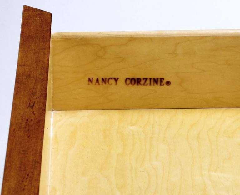 Nancy Corzine Glazed Maple X-Based Art Moderne Console Sideboard For Sale 5