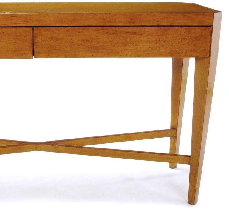 Nancy Corzine Glazed Maple X-Based Art Moderne Console Sideboard For Sale 3