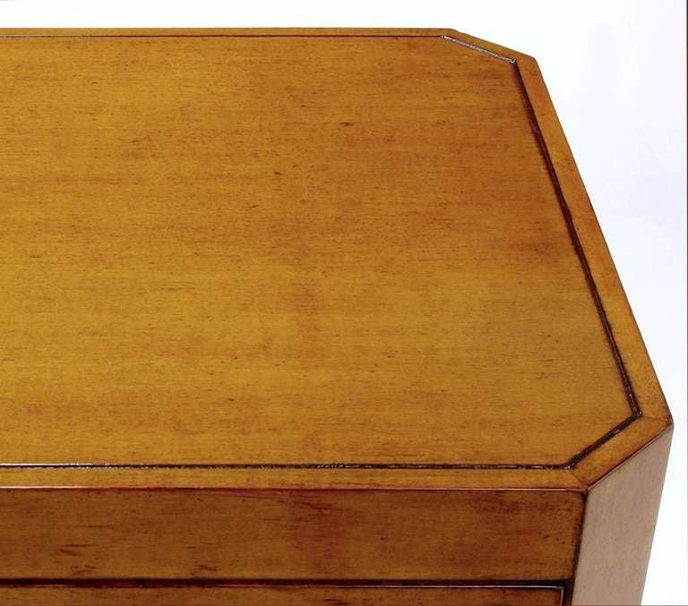 Nancy Corzine Glazed Maple X-Based Art Moderne Console Sideboard For Sale 4