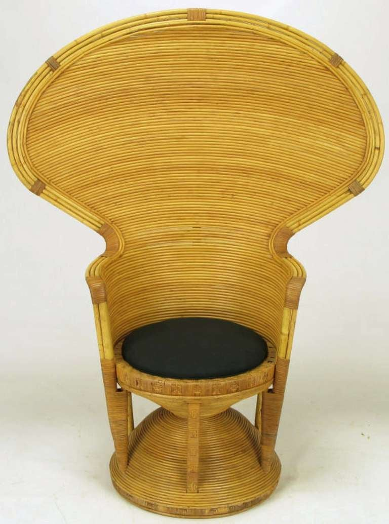 pair egyptian style rattan cobra chairs at 1stdibs