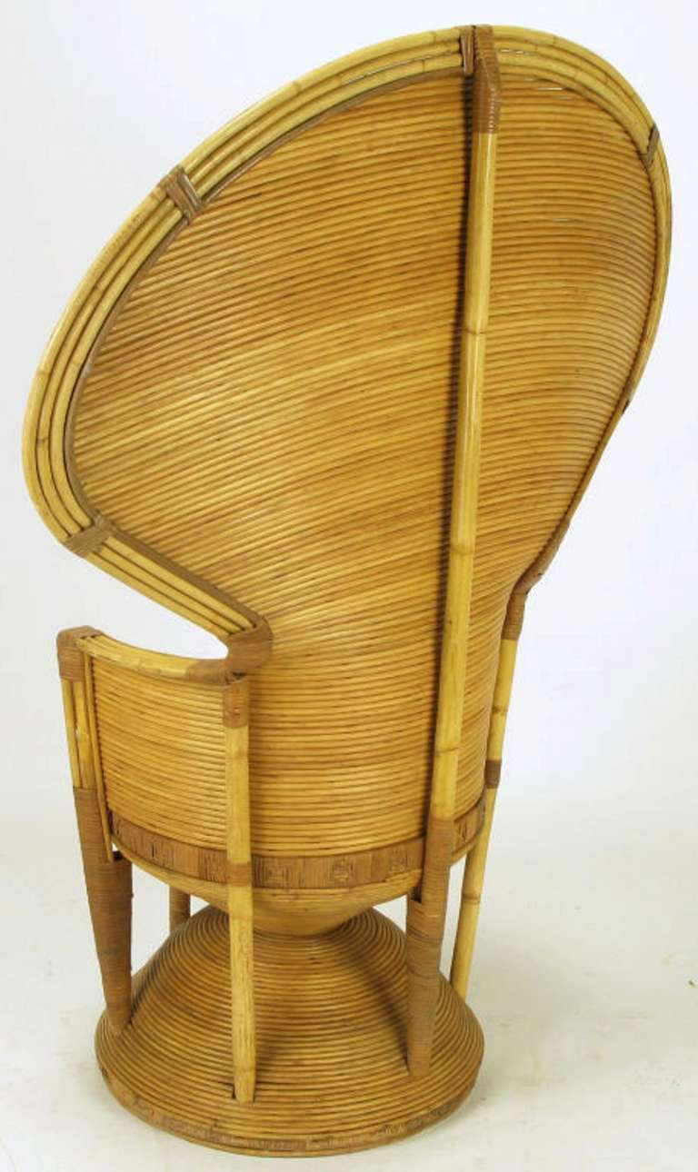 Pair of Egyptian Style Rattan Cobra Chairs 4