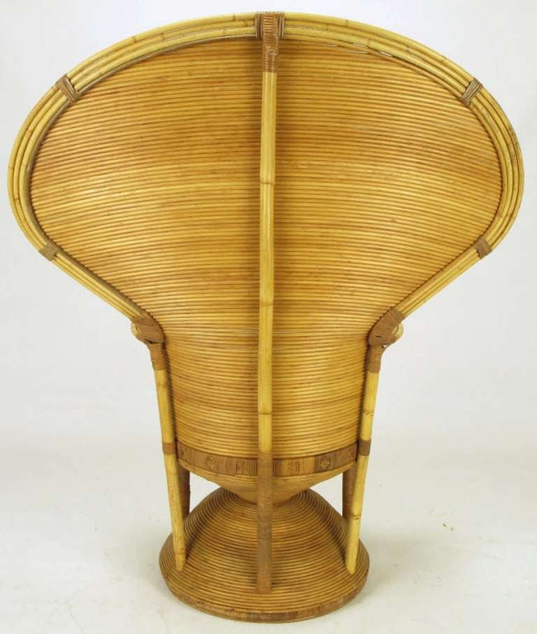 Mid-20th Century Pair of Egyptian Style Rattan Cobra Chairs For Sale