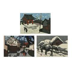Set Three Kiyoshi Saito Wood Block Prints