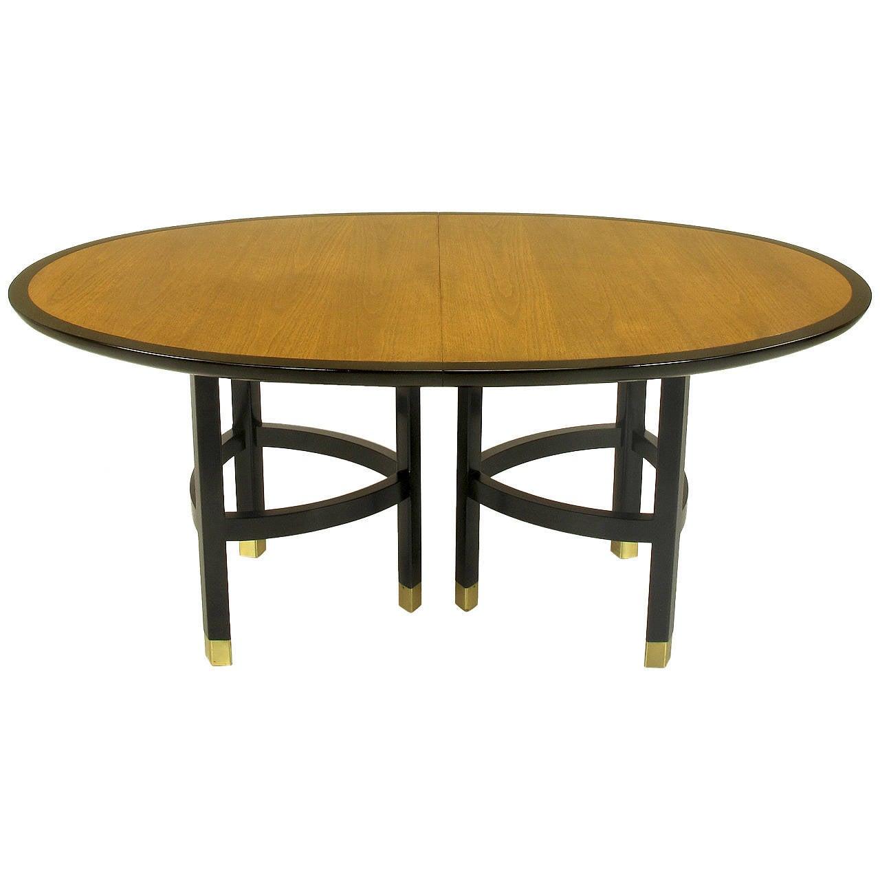 Michael taylor cyprus tree trunk dining table at 1stdibs - Baker Walnut And Ebonized Mahogany Dining Table 1