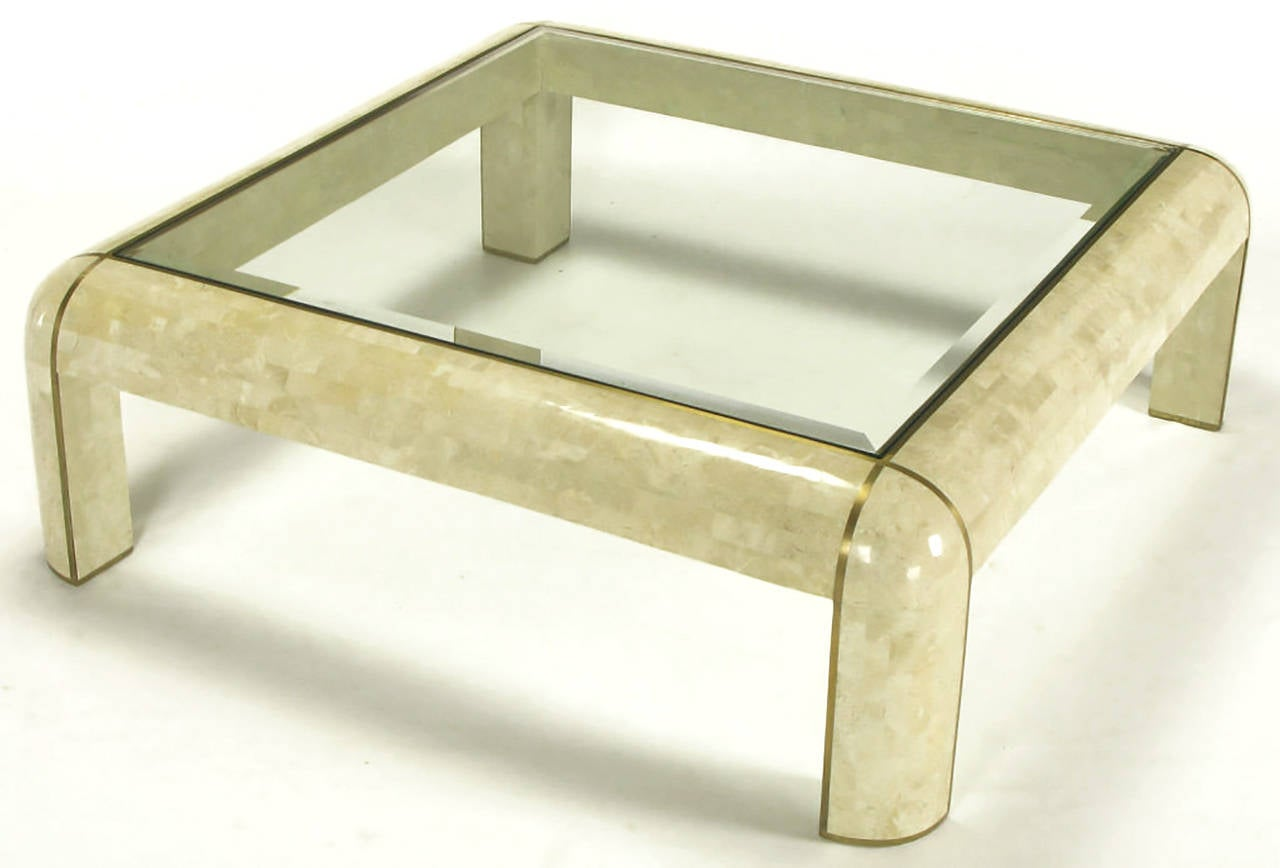 Square maitland smith tessellated fossil stone and inlaid brass square maitland smith tessellated fossil stone and inlaid brass coffee table 3 geotapseo Choice Image