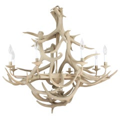 "Rustic 41"" Diameter Eight Arm Deer Antler Chandelier"