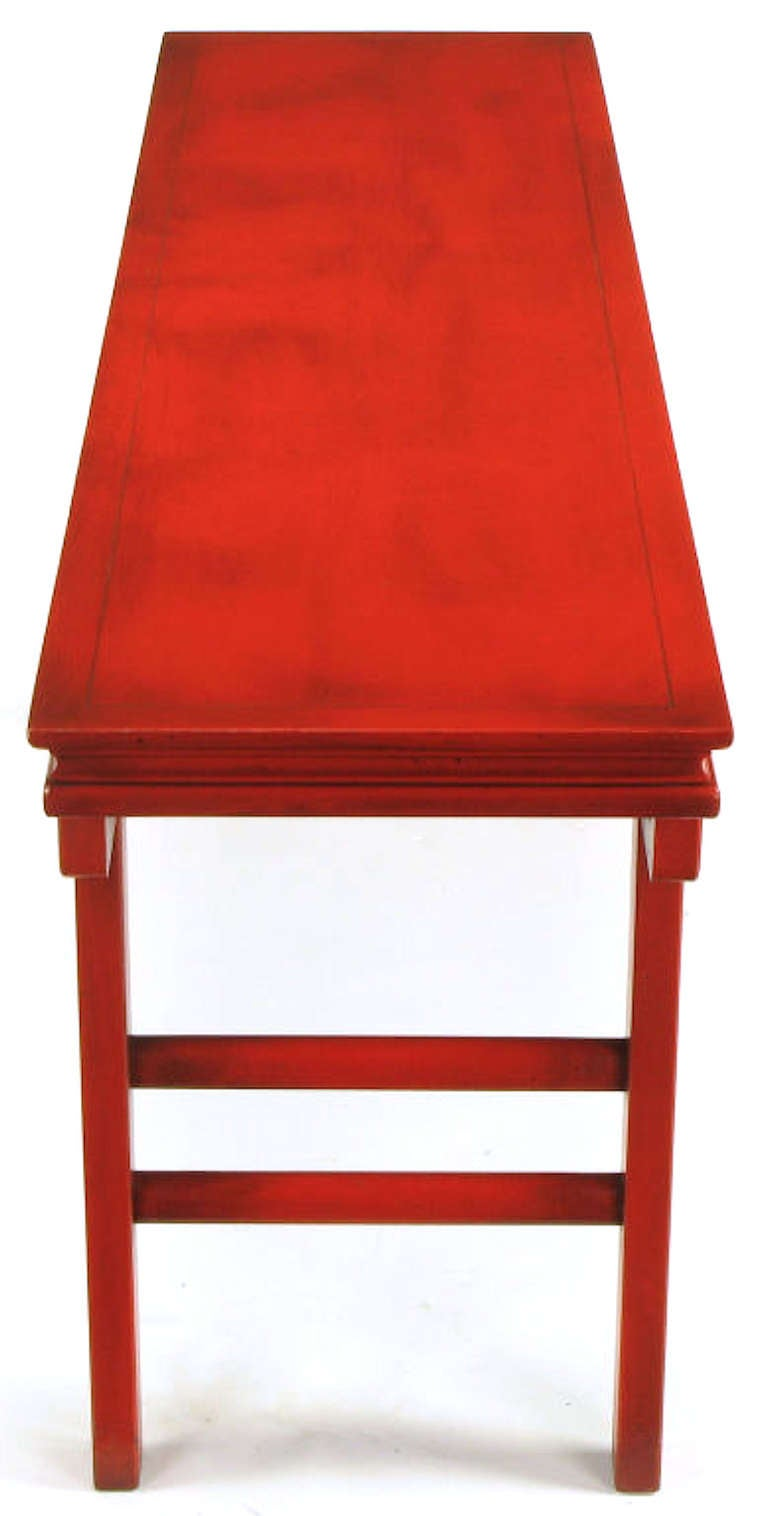 Circa 1950s Chinese Altar Table In Cinnabar Lacquer For Sale 3
