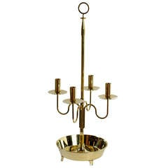 Large Tommi Parzinger Brass Candelabra for Dorlyn