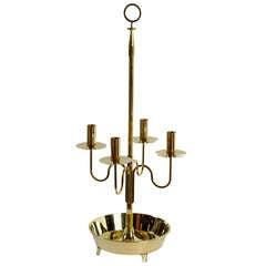 Large Tommi Parzinger Brass Candelabra for Dorlyn