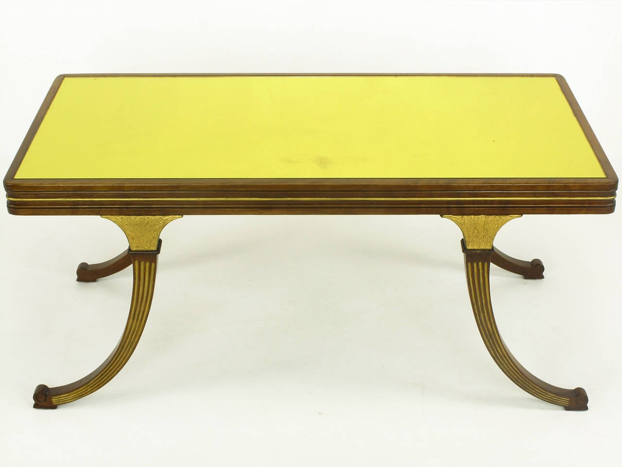 Empire Coffee Table Early 1900s Parcel Gilt And Walnut Empire Coffee Table With Gold