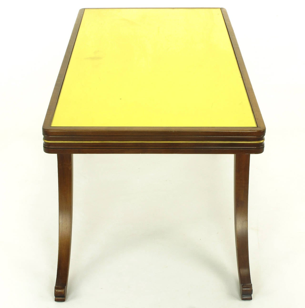 early 1900s parcel gilt and walnut empire coffee table