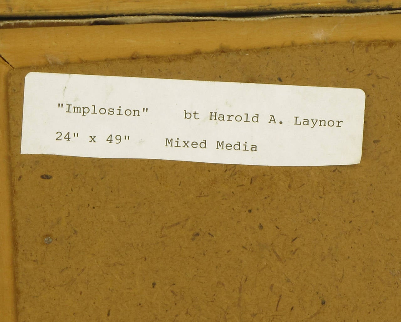 Harold A. Laynor Mixed-Media on Canvas, Titled
