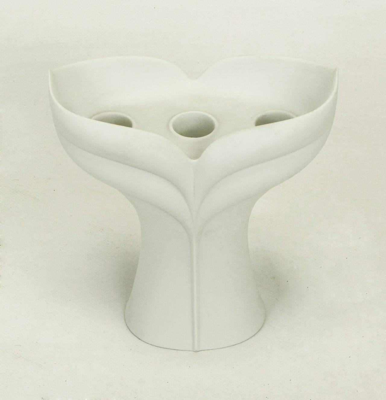 Pair of Uta Feyl White Matte Porcelain Candelabrum for Rosenthal Studio Linie For Sale 2