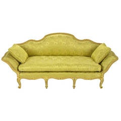 Stunning Painted and Parcel Gilt Italian Sofa