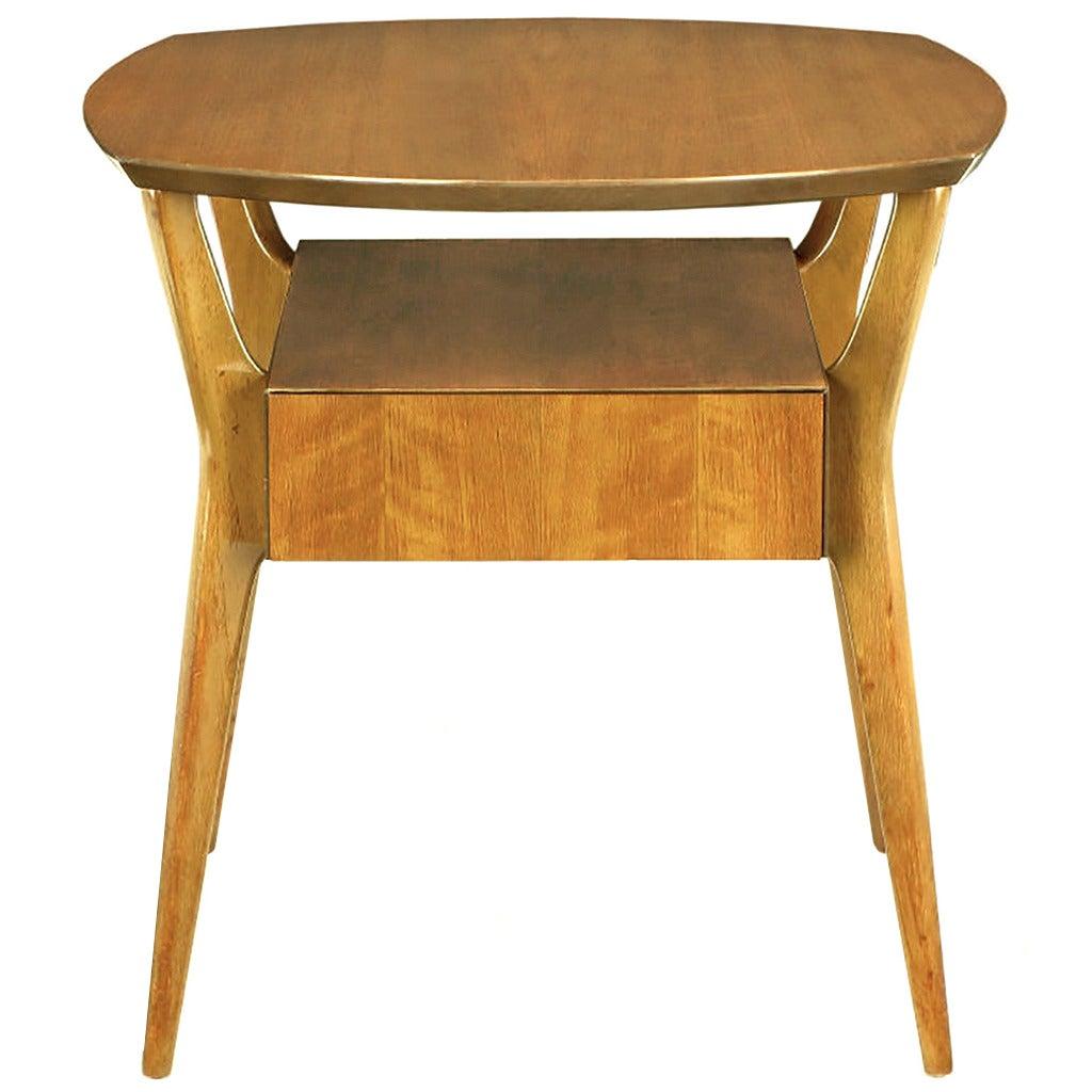 M. Singer & Sons Italian Walnut Side Table
