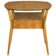M. Singer & Sons Italian Walnut Side Table