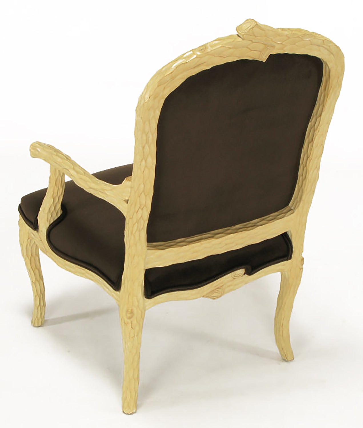 Pair of faux bois and velvet louis xv style fauteuils for sale at 1stdibs - Fauteuil style louis xv ...