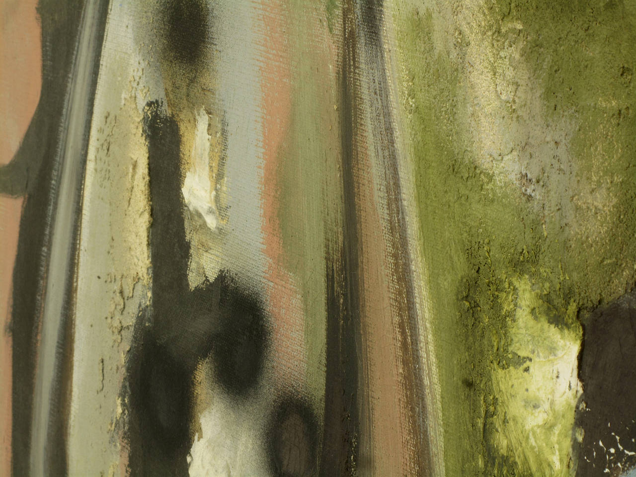 Harold A Laynor Abstract Oil on Canvas Titled