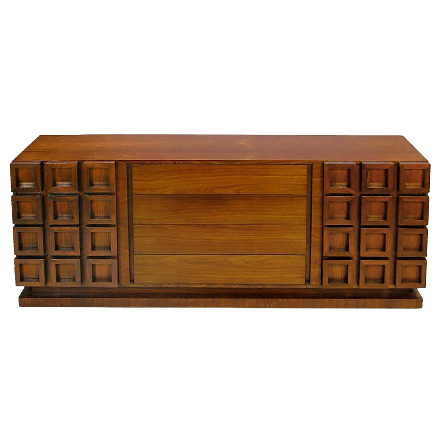 Peck And Hills Walnut Dresser With Deep