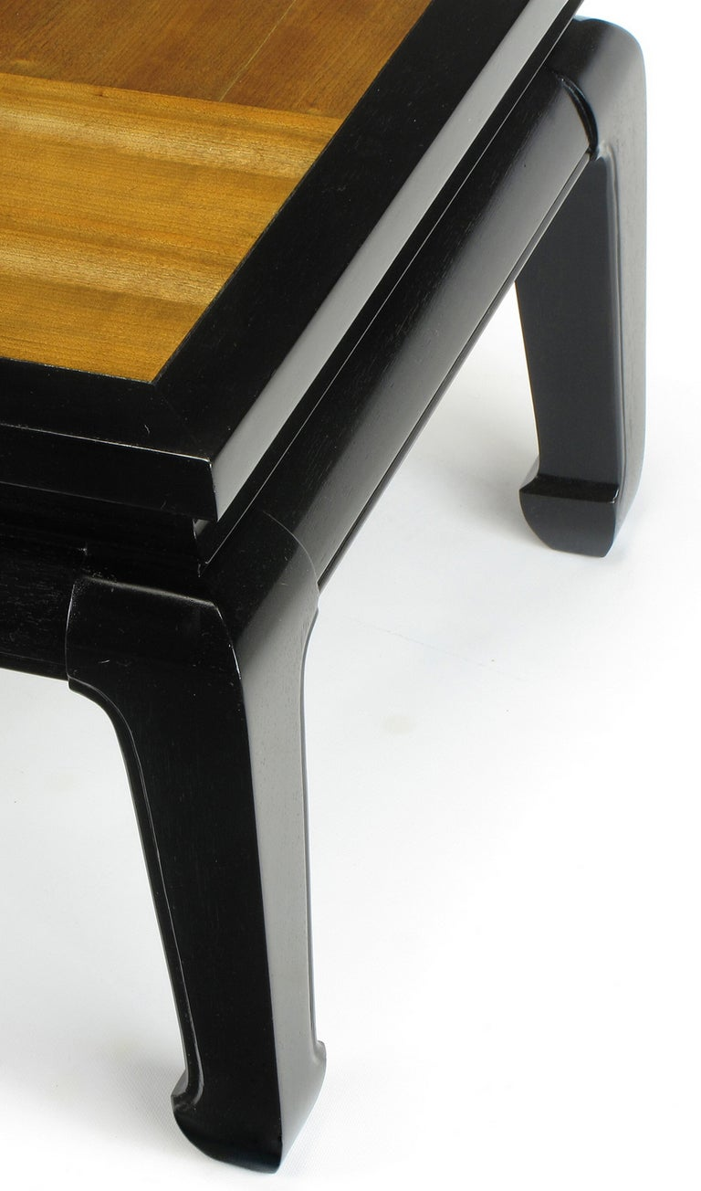 Pair Ming Low Tables With Parquetry Tops For Sale At 1stdibs