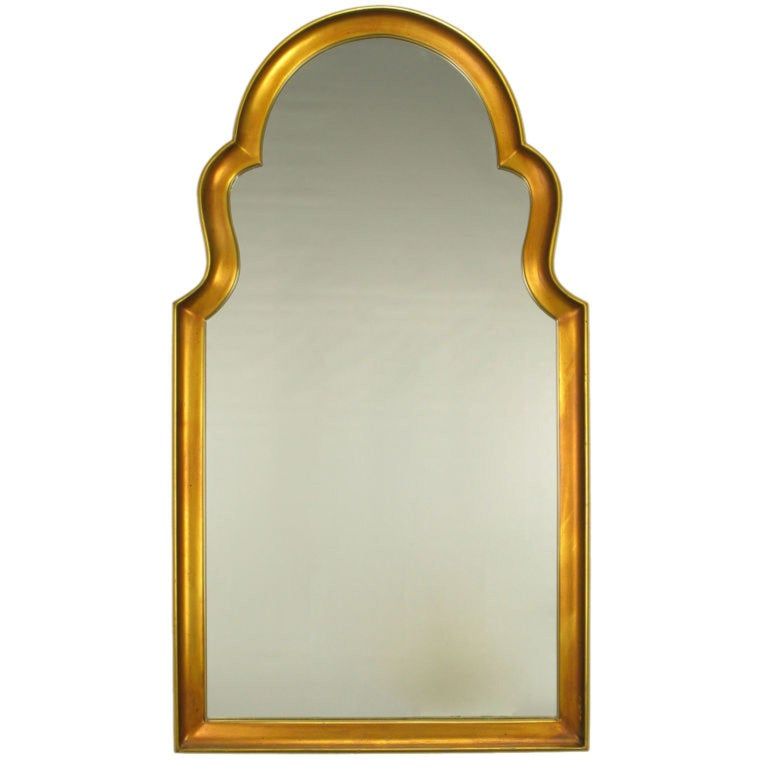 Moorish Style Giltwood And Gesso Mirror For Sale