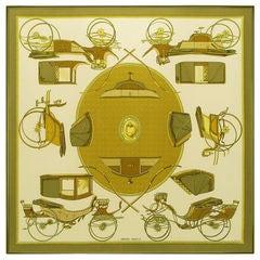 Hermes Framed Vintage Silk Scarf
