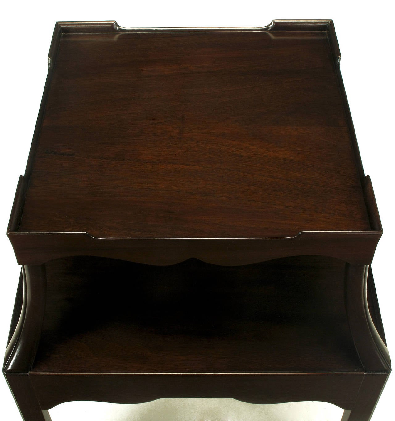 Pair of 1940s Two-Tier Mahogany End Tables with Extensible Nesting Top 7