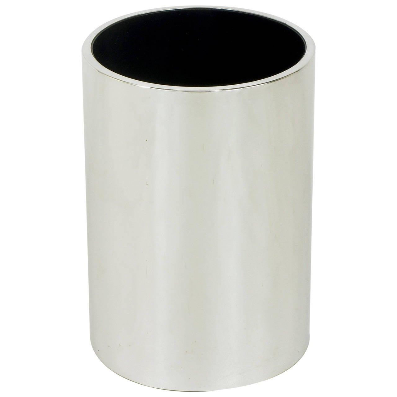 Dado industrial design spa italian chromed heavy steel cylinder dado industrial design spa italian chromed heavy steel cylinder vase for sale reviewsmspy