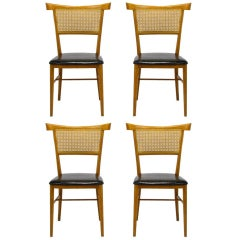 Four Paul McCobb Maple Perimeter Group Dining Chairs