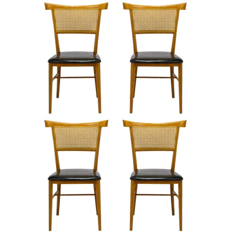 Four Paul McCobb Maple Perimeter Group Dining Chairs For Sale At 1stdibs